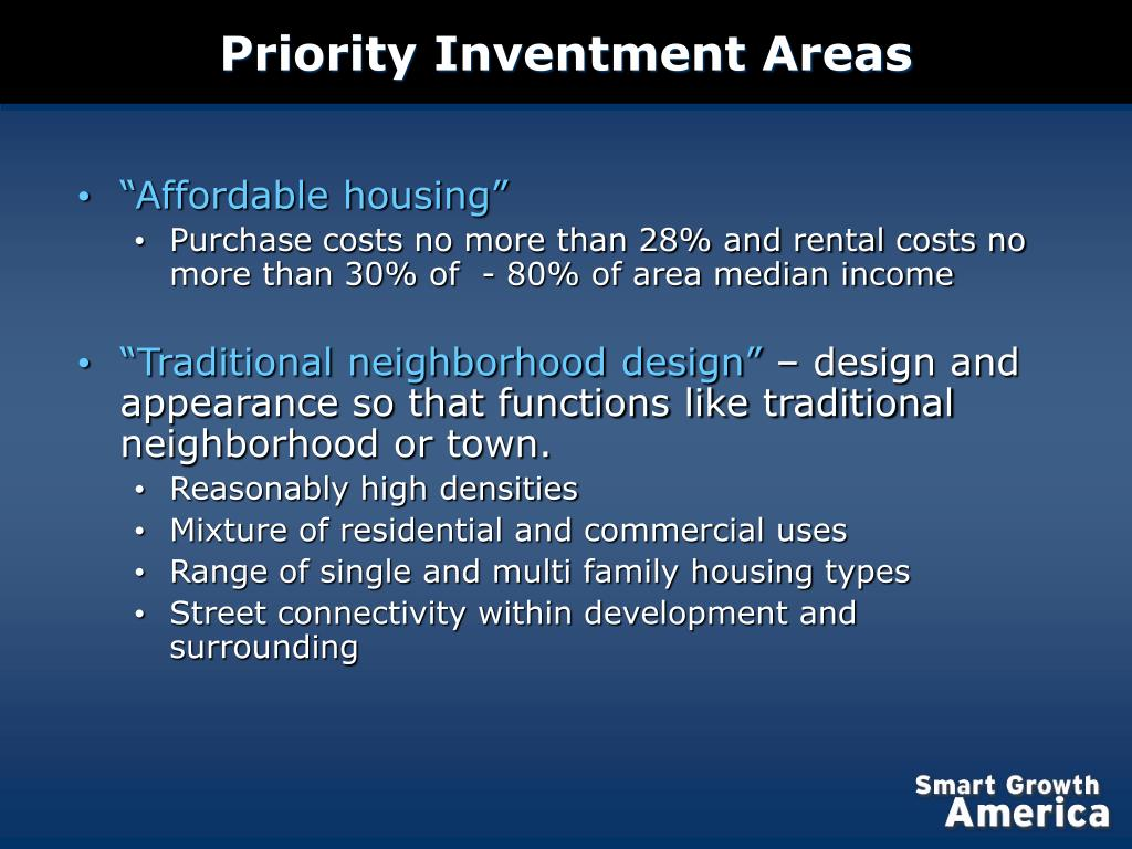 Priority Inventment Areas
