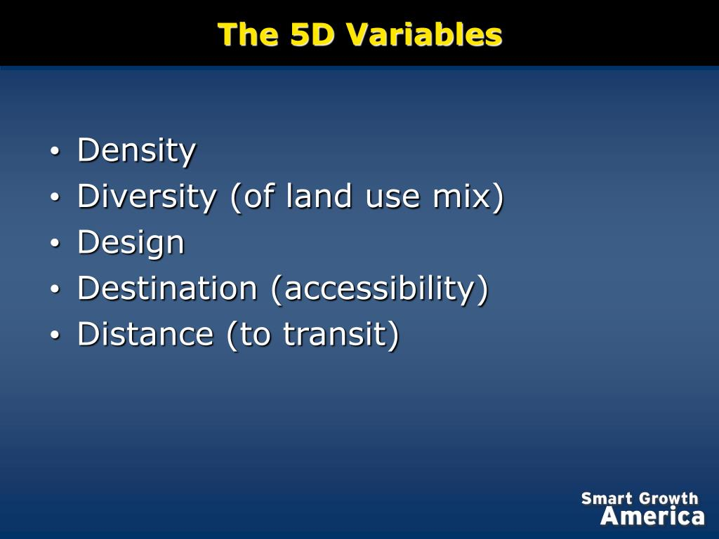 The 5D Variables