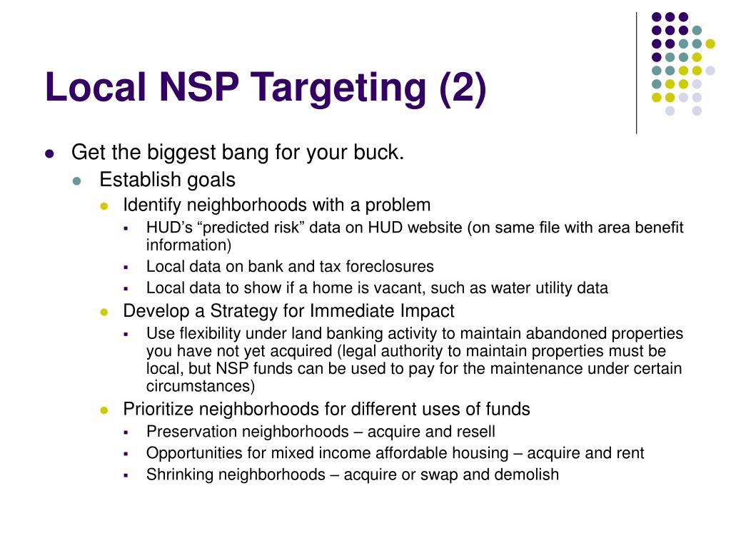 Local NSP Targeting (2)