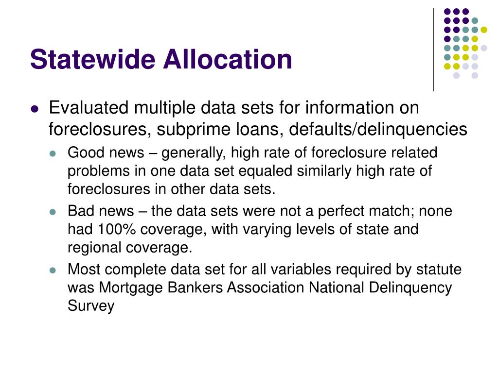Statewide Allocation