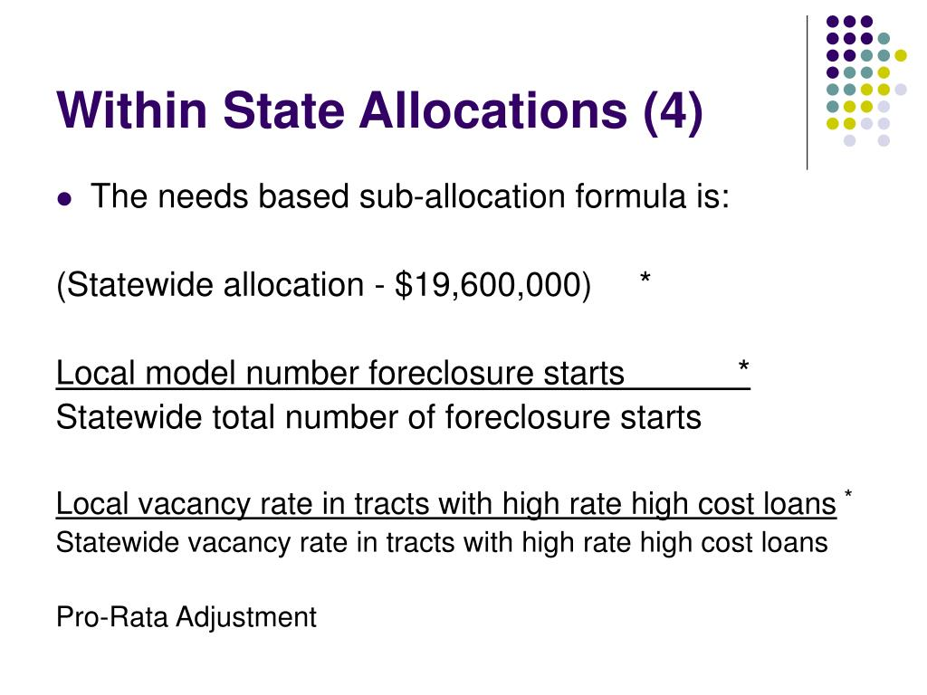 Within State Allocations (4)