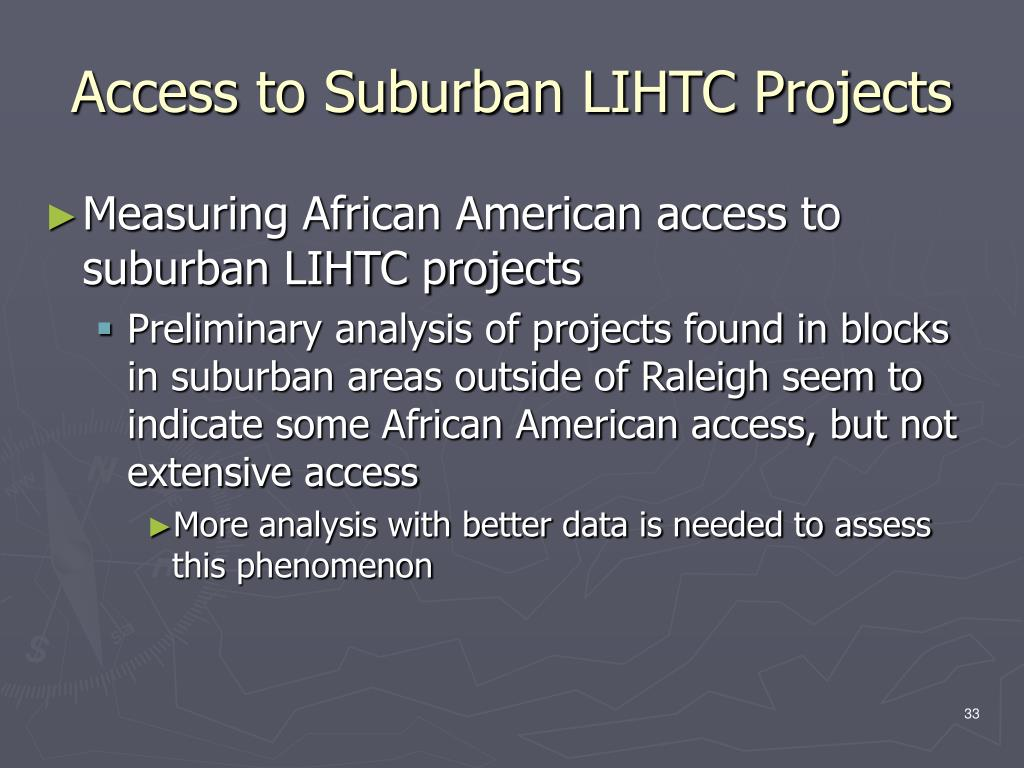 Access to Suburban LIHTC Projects