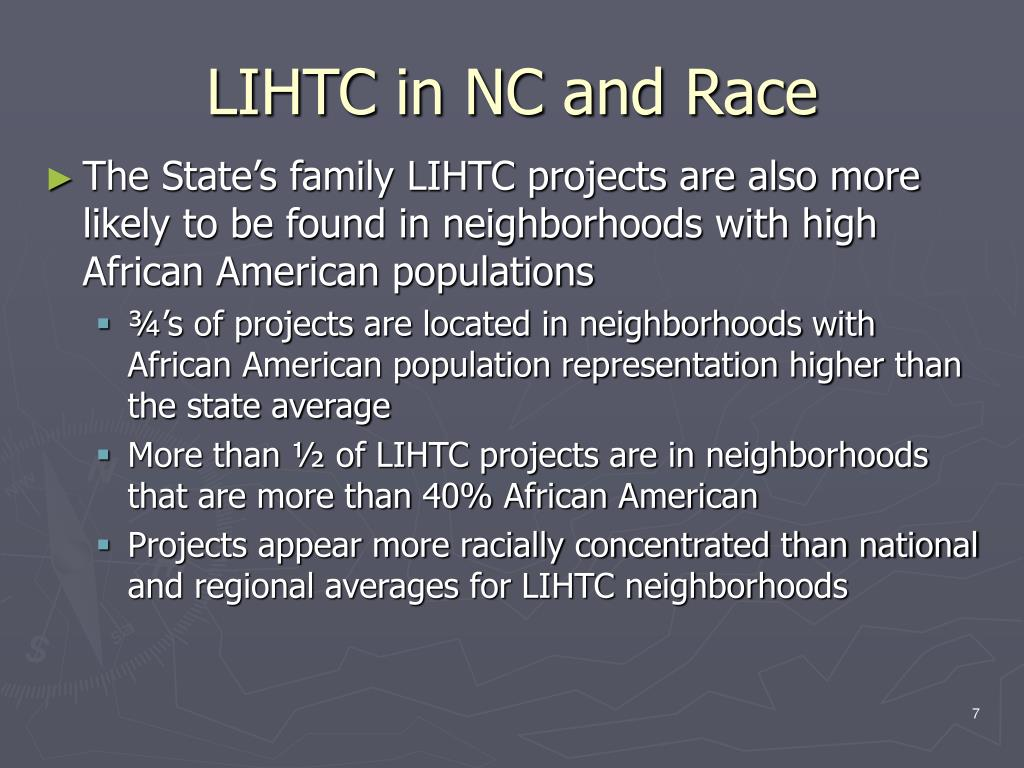 LIHTC in NC and Race