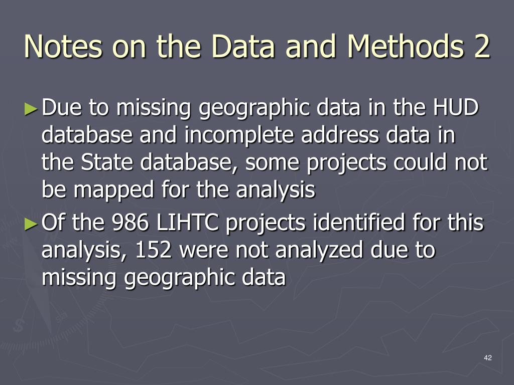 Notes on the Data and Methods 2