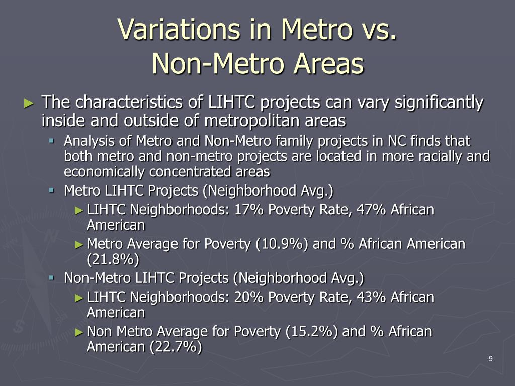 Variations in Metro vs.