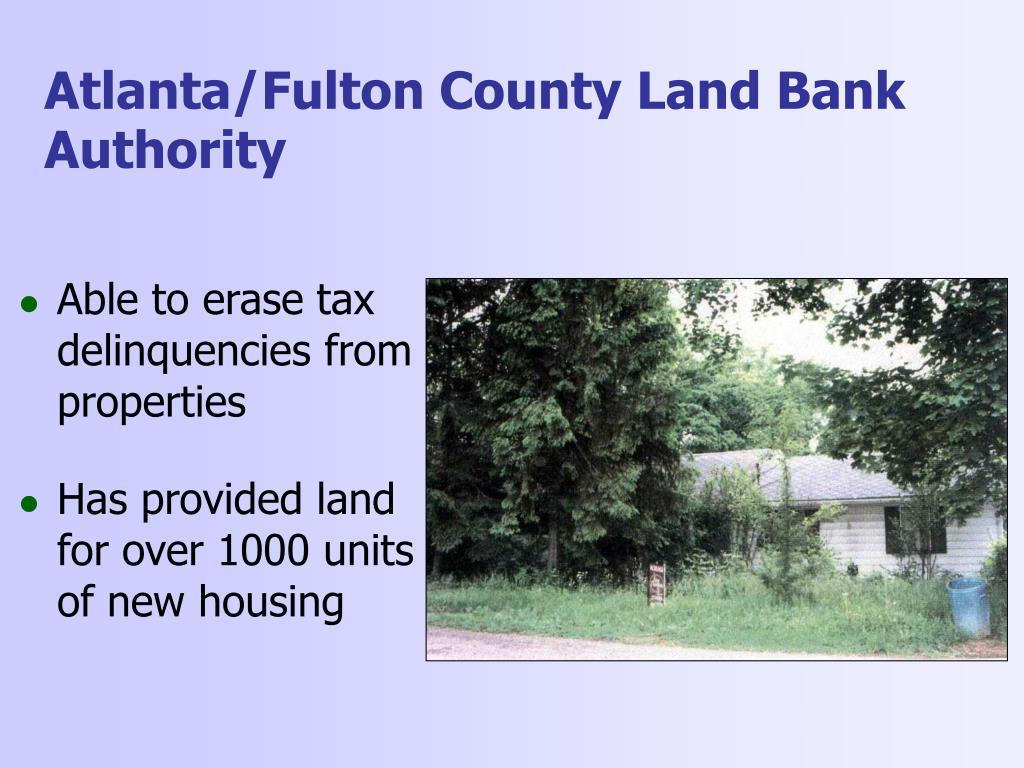 Atlanta/Fulton County Land Bank Authority