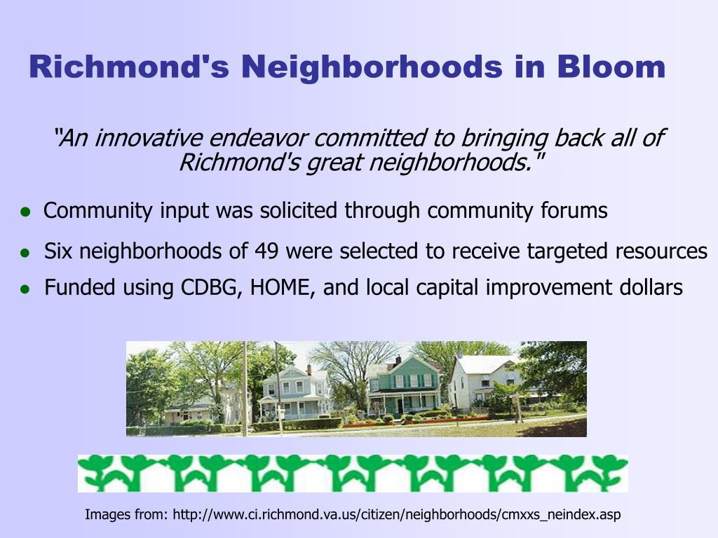 Richmond's Neighborhoods in Bloom
