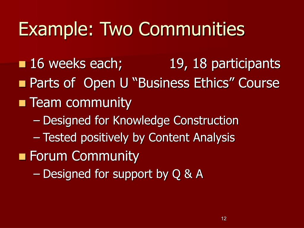 Example: Two Communities