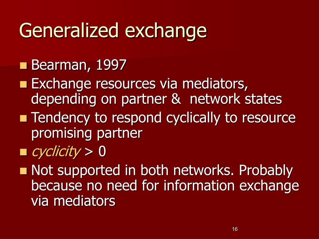 Generalized exchange