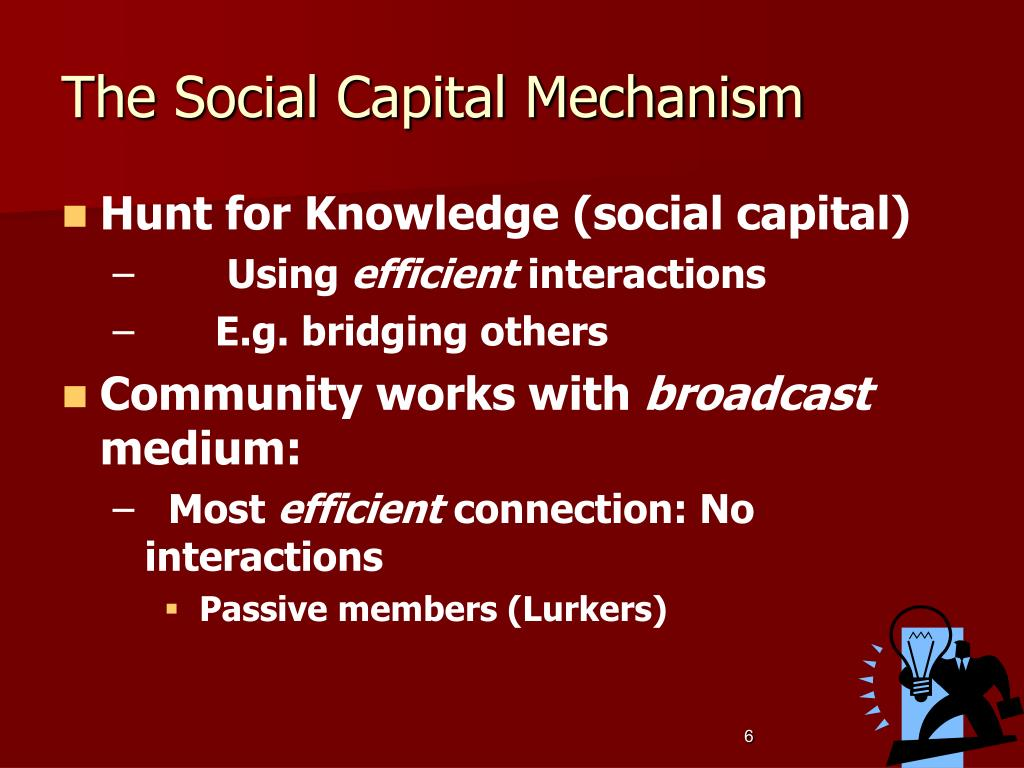 The Social Capital Mechanism
