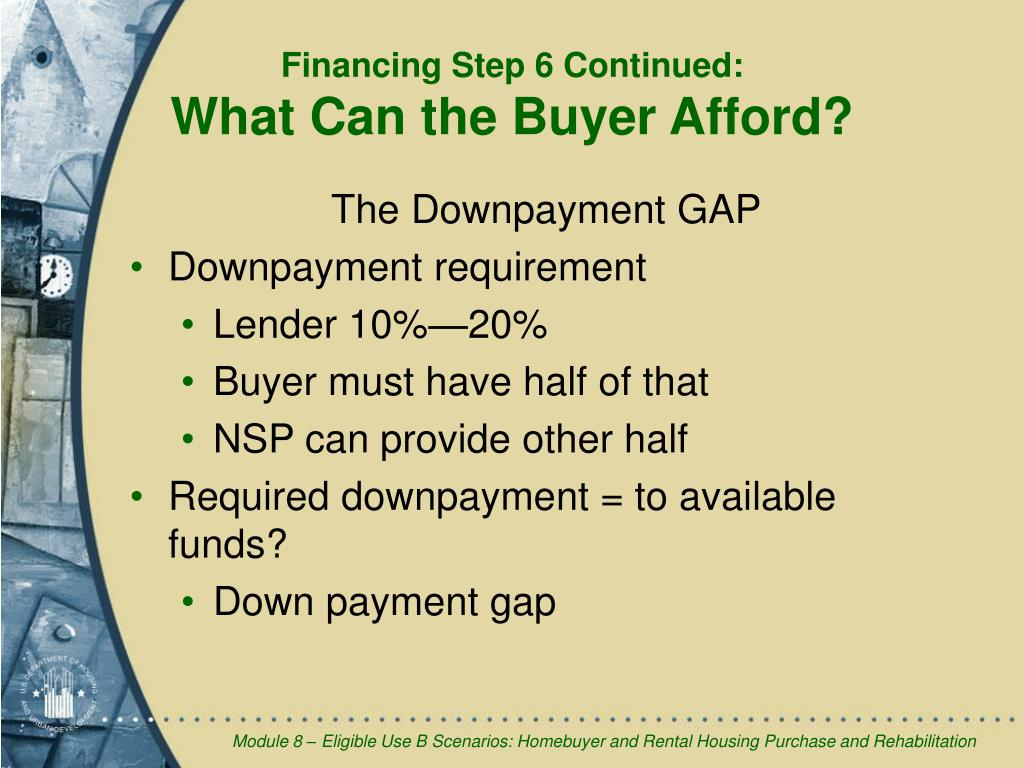 The Downpayment GAP