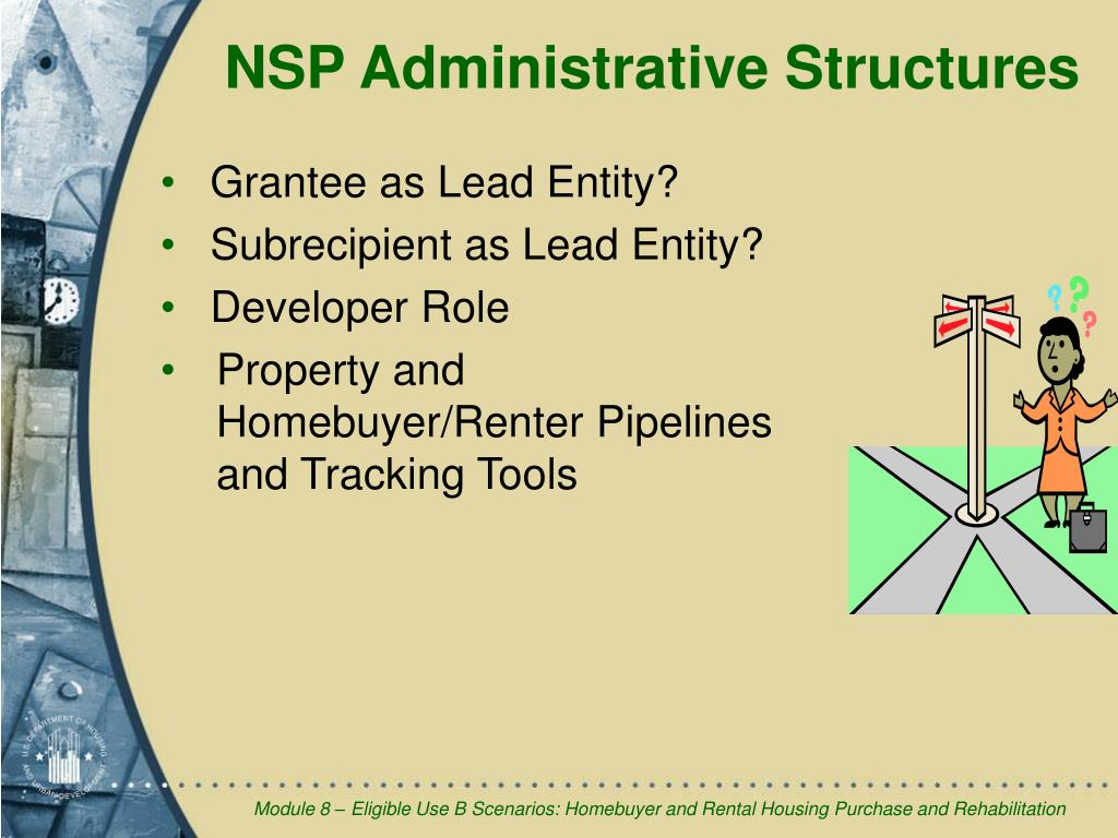 NSP Administrative Structures
