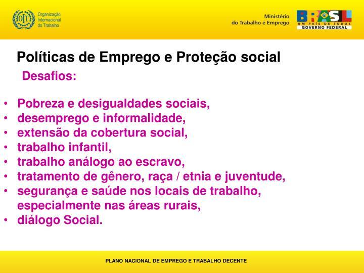 Políticas de Emprego e Proteção social