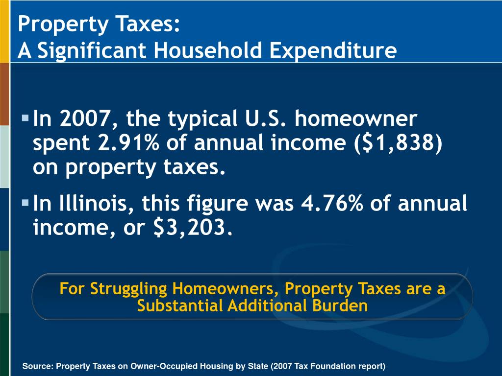For Struggling Homeowners, Property Taxes are a Substantial Additional Burden