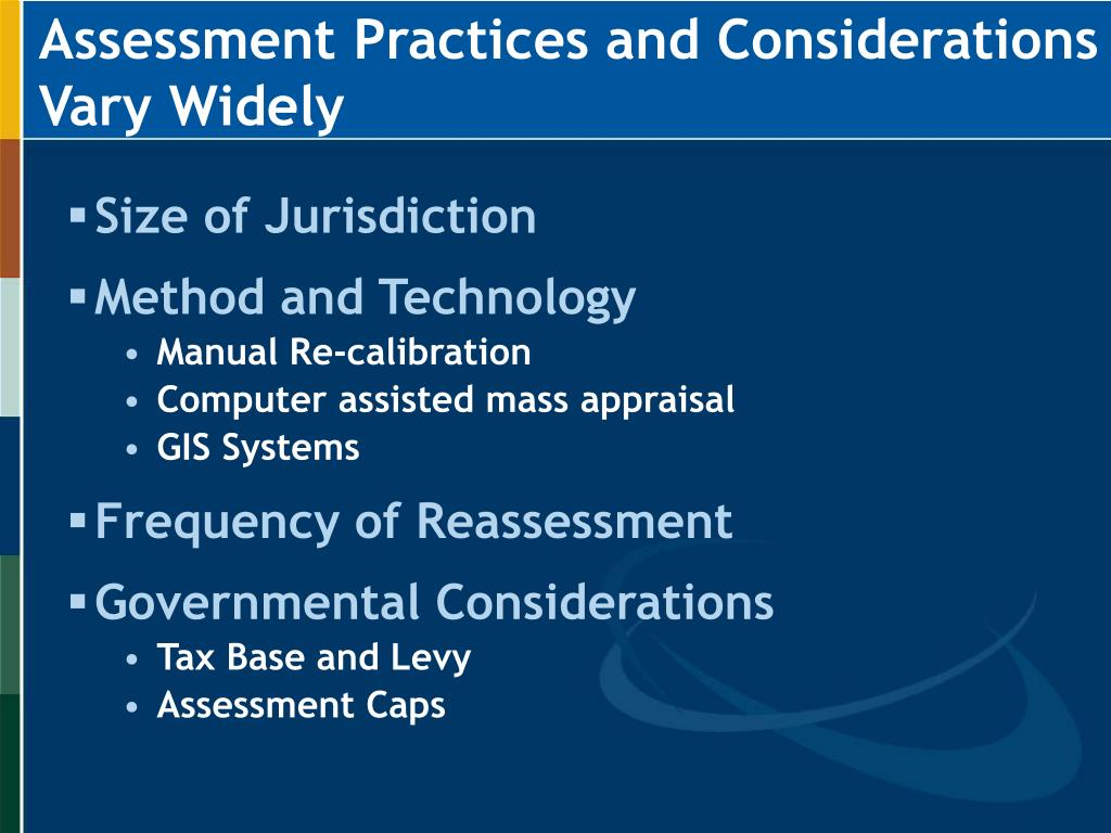Assessment Practices and Considerations Vary Widely