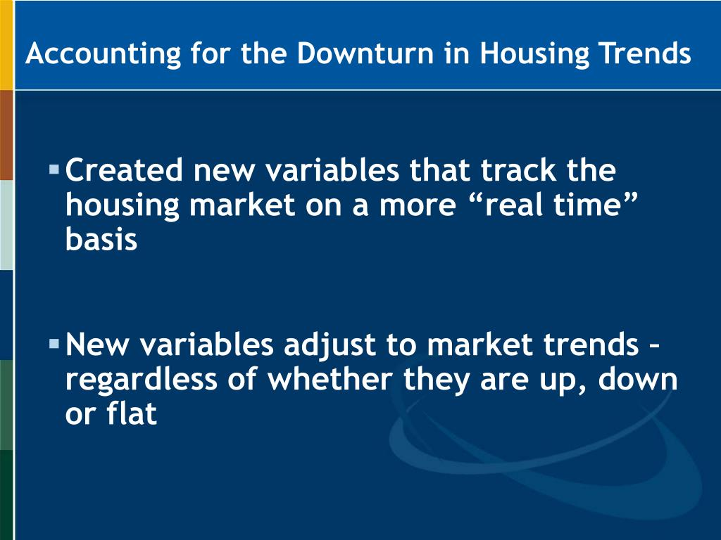 Accounting for the Downturn in Housing Trends