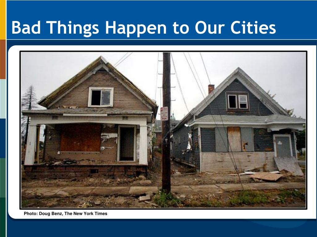 Bad Things Happen to Our Cities