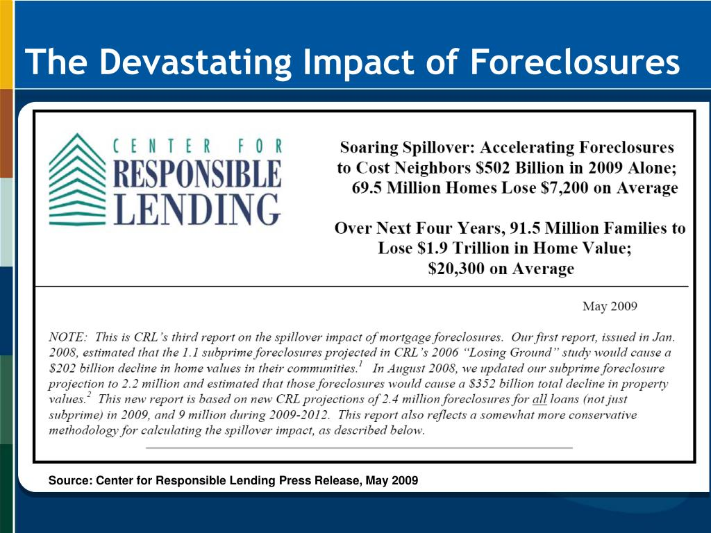 The Devastating Impact of Foreclosures