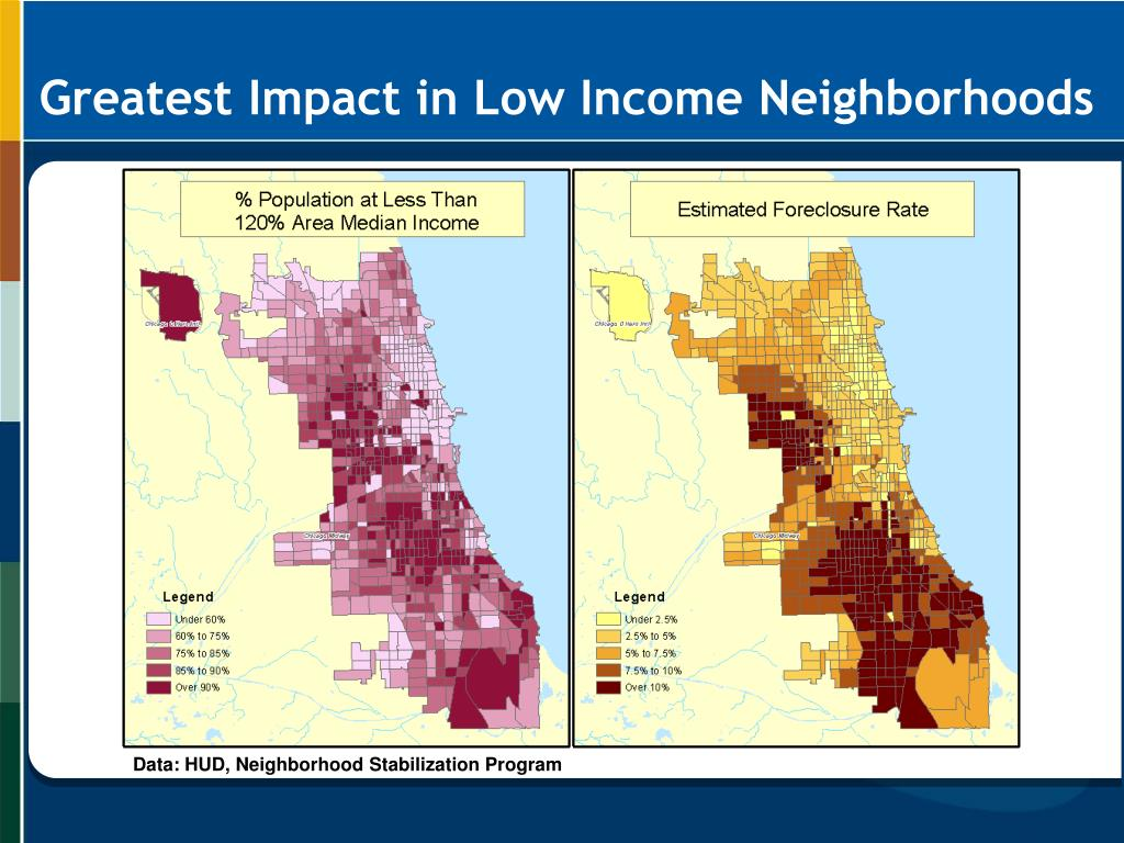 Greatest Impact in Low Income Neighborhoods