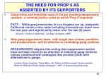 prop 6 arguments used in support
