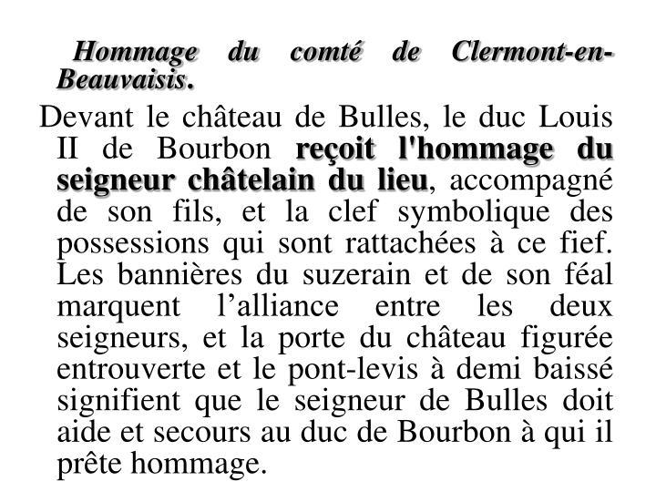 Hommage du comté de Clermont-en-Beauvaisis