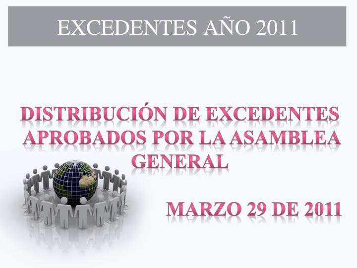 EXCEDENTES AÑO 2011