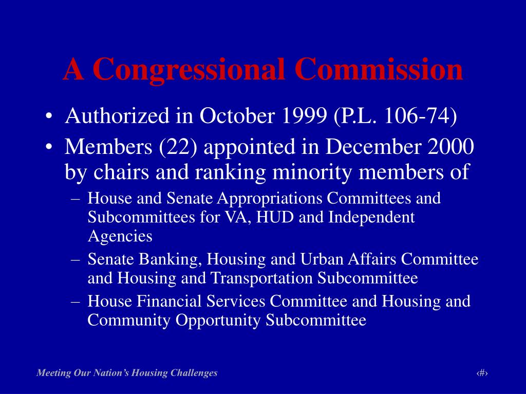 A Congressional Commission