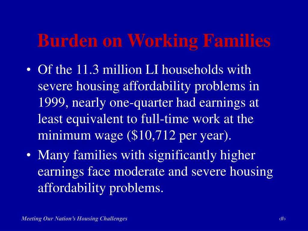Burden on Working Families