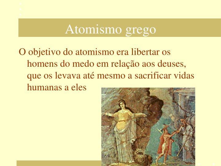 Atomismo grego