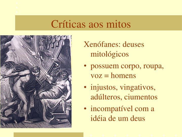 Xenófanes: deuses mitológicos