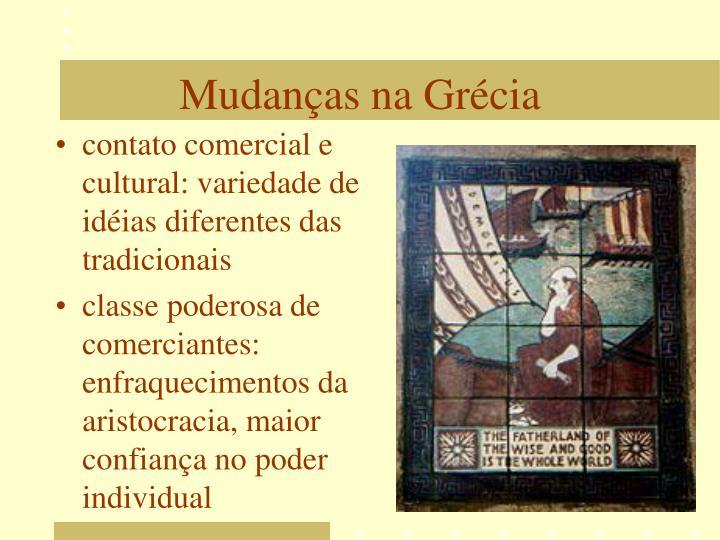 contato comercial e cultural: variedade de idéias diferentes das tradicionais