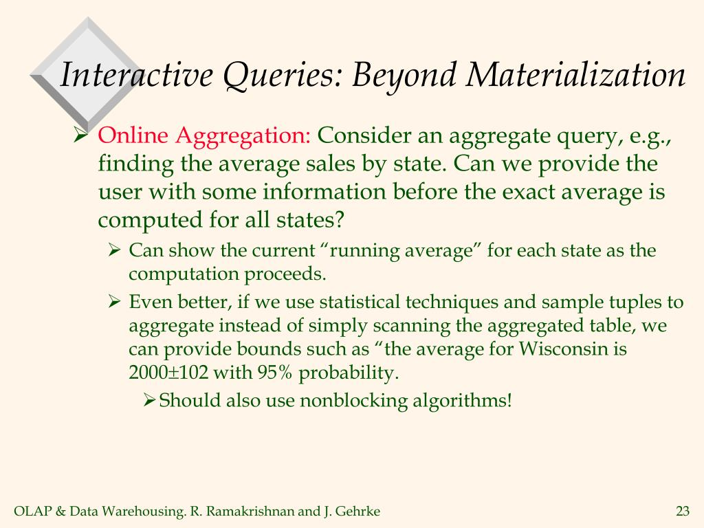 Interactive Queries: Beyond Materialization