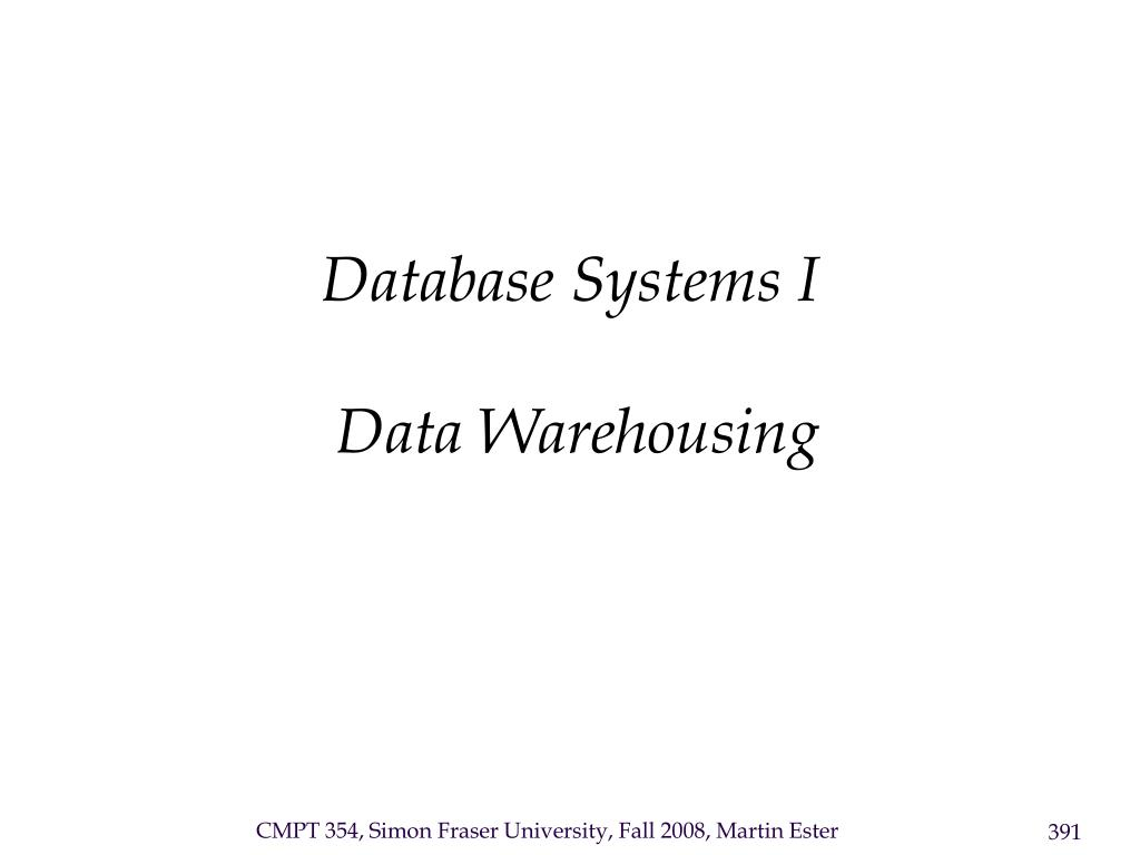 Database Systems I