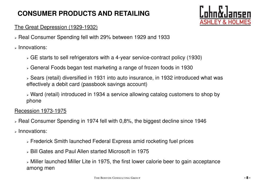 CONSUMER PRODUCTS AND RETAILING