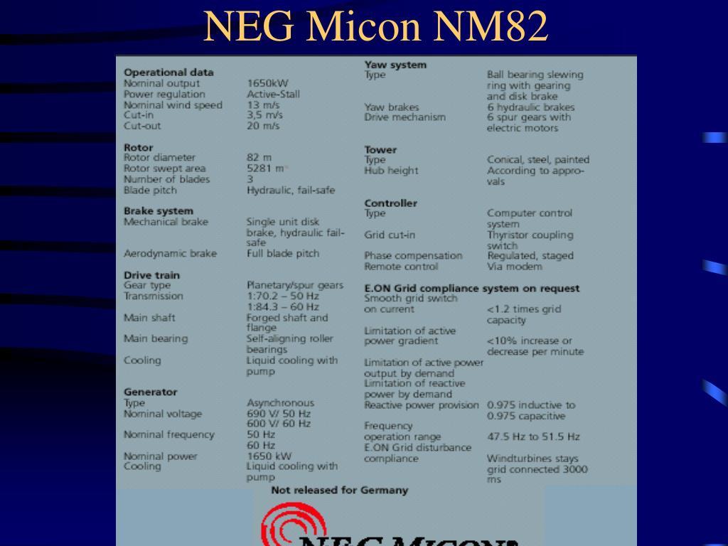 NEG Micon NM82