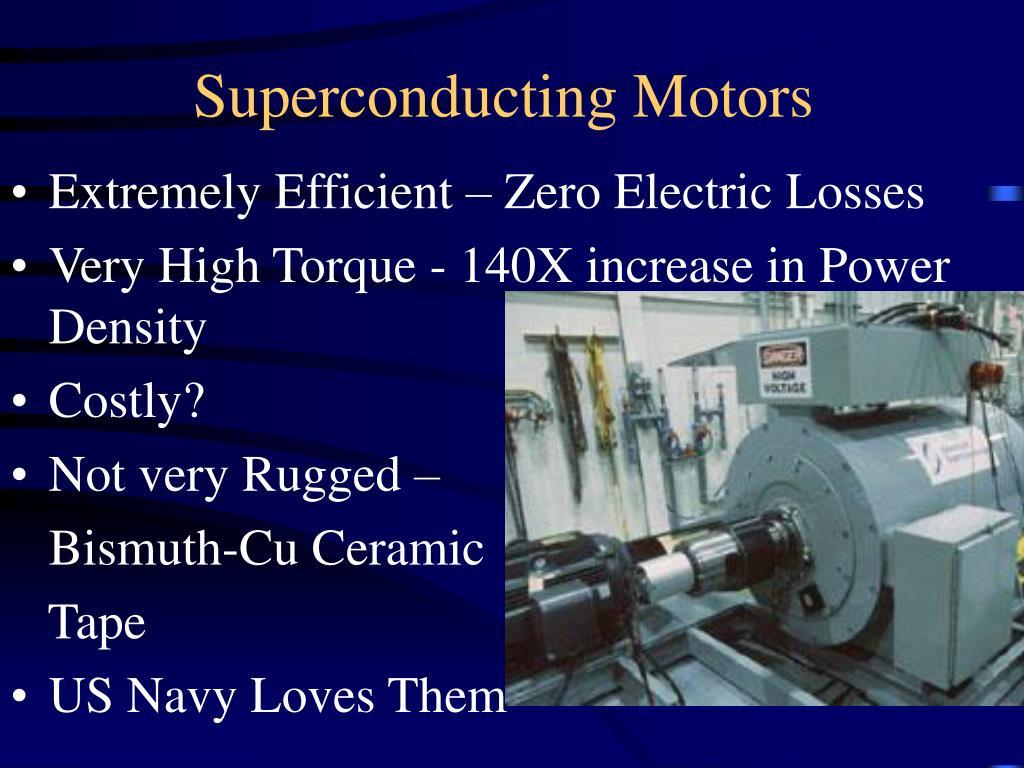 Superconducting Motors