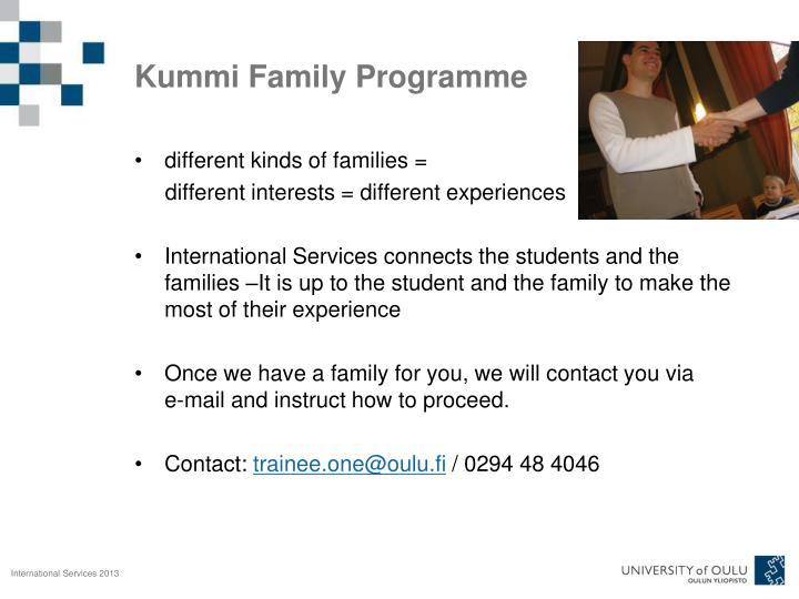 Kummi Family Programme