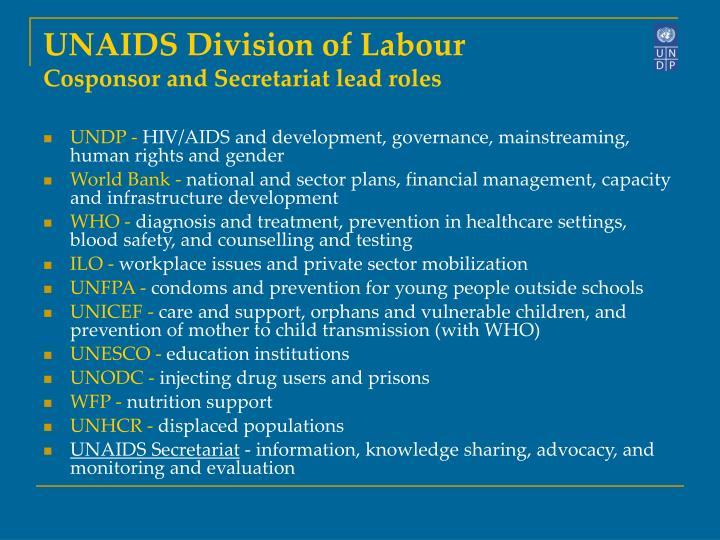 UNAIDS Division of Labour