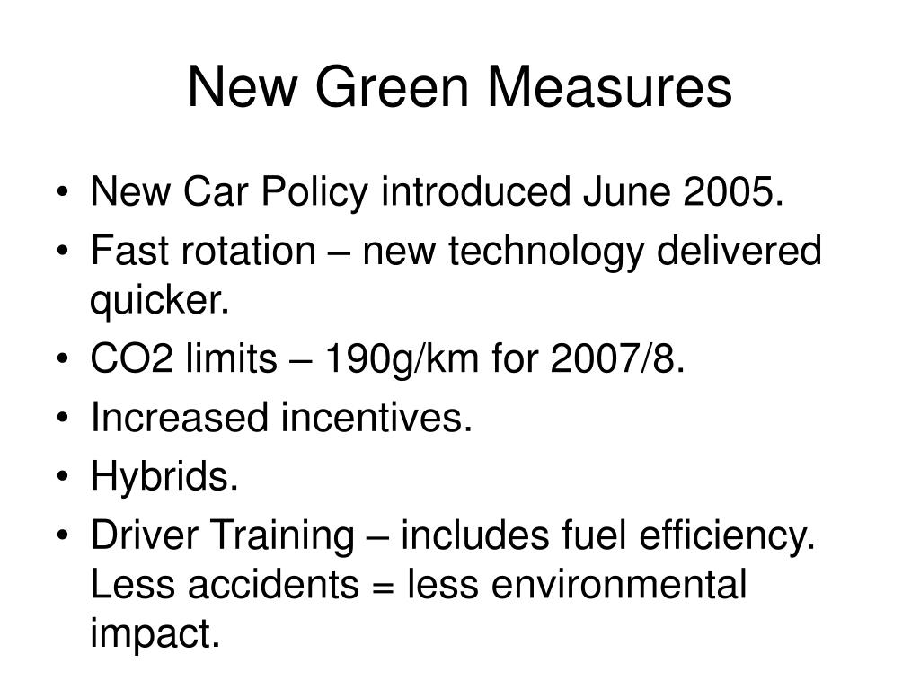 New Green Measures