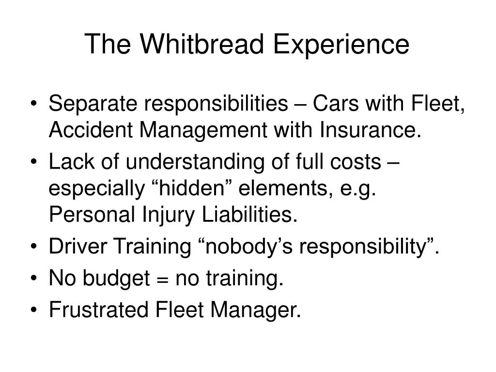 The Whitbread Experience