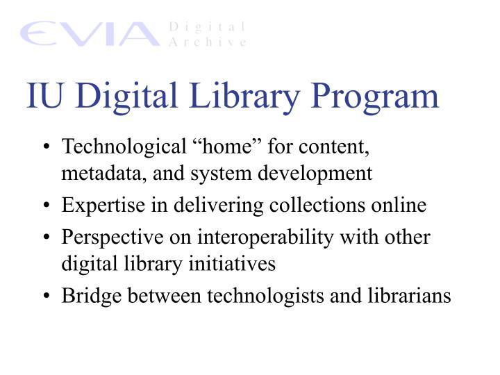 IU Digital Library Program