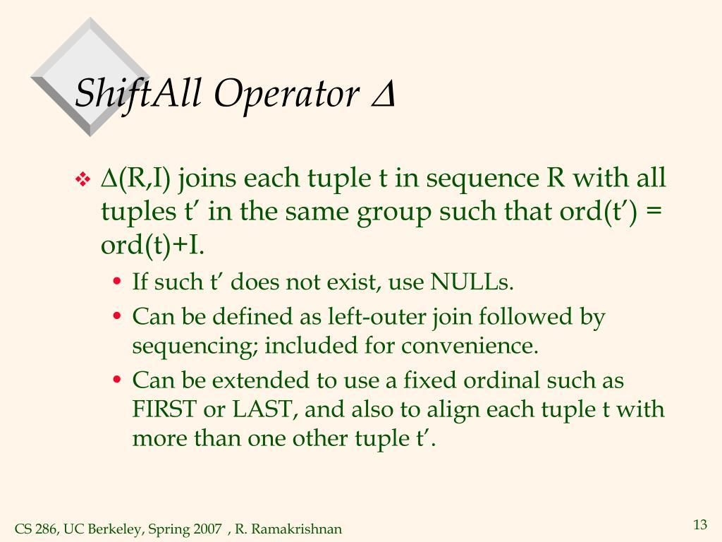 ShiftAll Operator