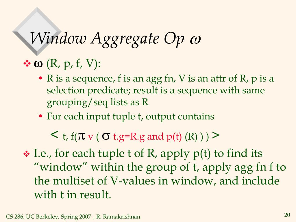 Window Aggregate Op