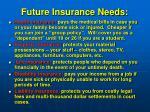 future insurance needs