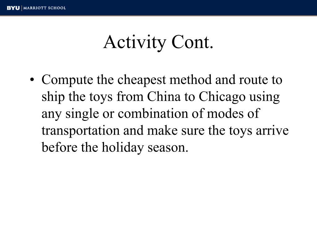 Activity Cont.
