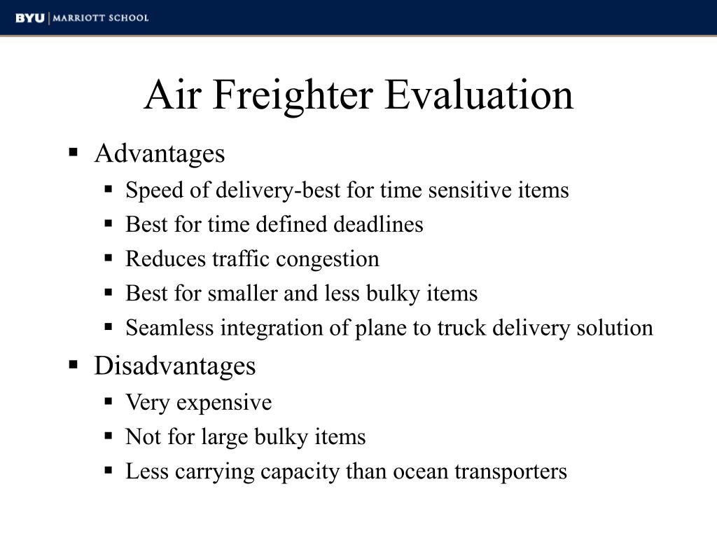 Air Freighter Evaluation