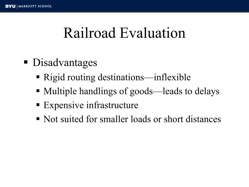 Railroad Evaluation