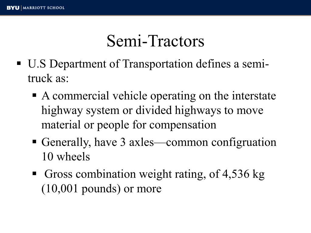 Semi-Tractors