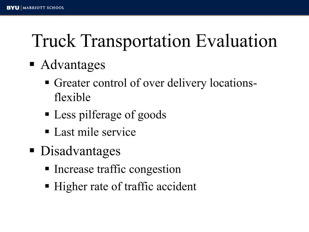 Truck Transportation Evaluation