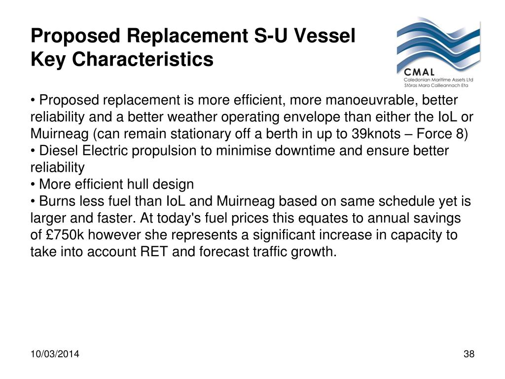 Proposed Replacement S-U Vessel